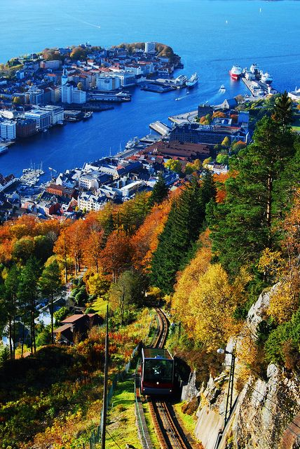 View of Bergen Norway My Great Great Grandfather Johannes Johanneson Dahlseide emigrated from Bergen in the late 1800's