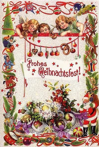 Christmas card from Germany. Repinned by www.mygrowingtraditions.com