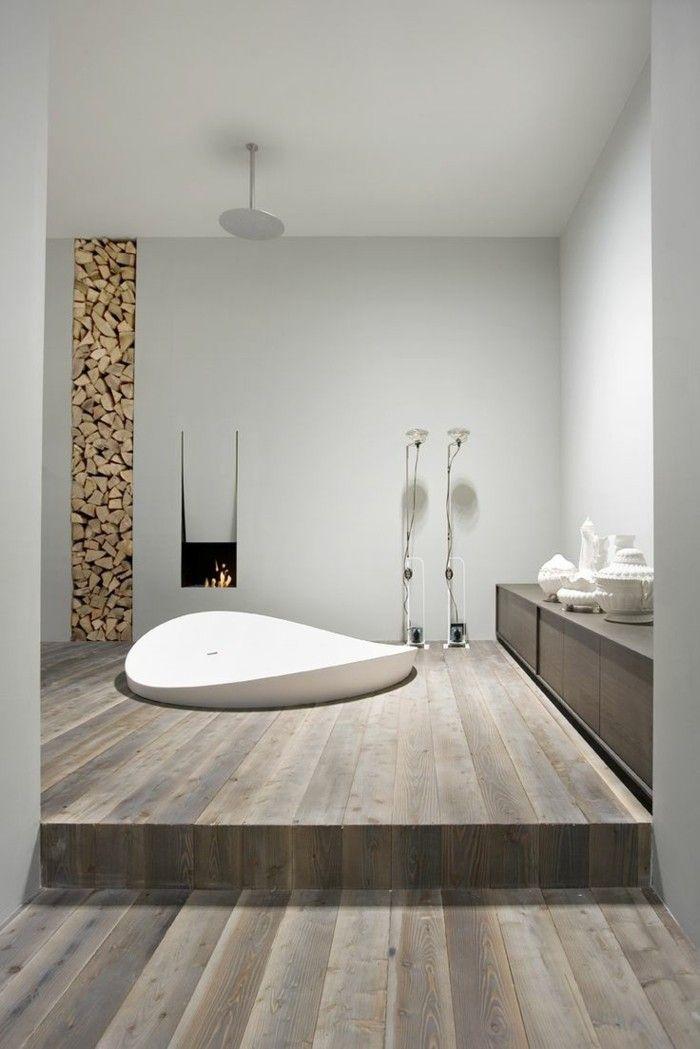 1000 id es sur le th me parquet gris clair sur pinterest parquet gris cham - Modele salle de bain zen ...