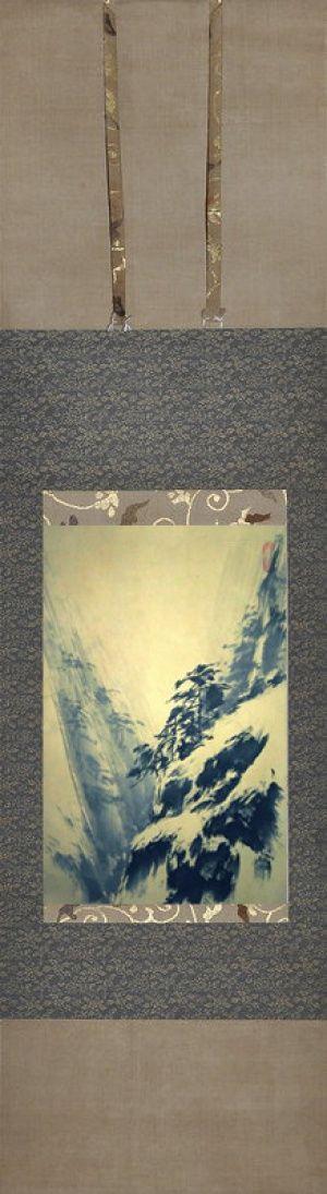 Sinke Art Mountain Gorge by Vyacheslav Sinkevich #vyacheslavsinkevich #sinke_art #japanesepainting