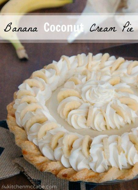 The Kitchen McCabe: Banana Coconut Cream Pie