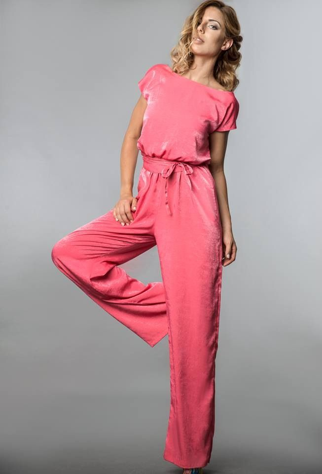 The Silver Jumpsuit in hot pink!!