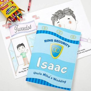 Ring Security Personalized Coloring Activity Book & Crayon Set