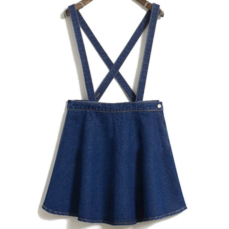 Casual-Women-Denim-Dress-High-Waist-Cross-font-b-Detachable-b-font-font-b-Strap-b.jpg (750×750)