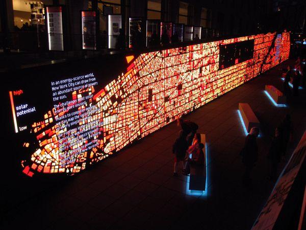 Digital Walls ibm think exhibit - data wall | ibm, behance and walls