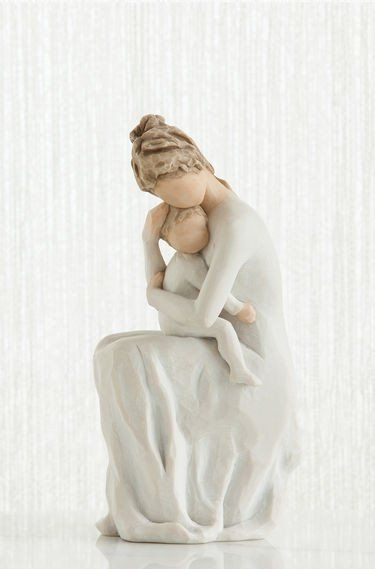For Always - Willow Tree Figurine - The Shabby Shed  Sentiment: Now and for always, I carry you in my heart