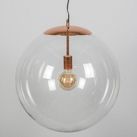 Lampa wisząca Ball 50 przezroczysta miedź