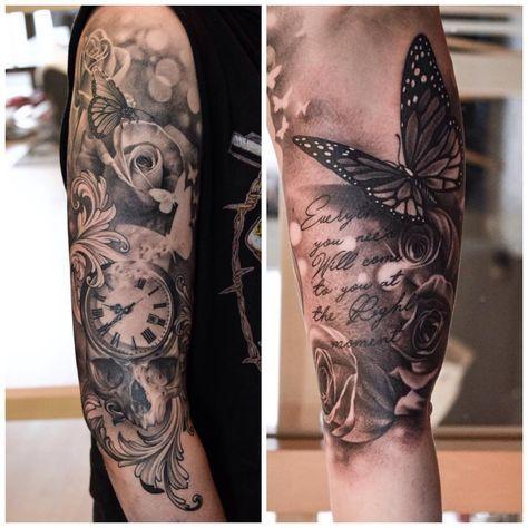 "426 Likes, 20 Comments - martin sjöberg (@martinsjoooberg) on Instagram: ""#tattoo #sleeve #inprogress #nofilter #healed #silverbackink #silverbackinstablack #eternalink…"""