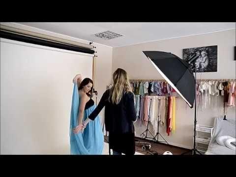 Sesja brzuszkowa maternity session behind the scenes - studio Fotokraina...