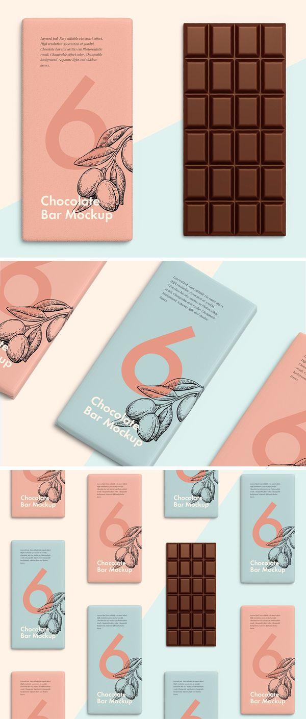 30 Best Mockup Templates Download For Realistic Commercial Presentation Design Graphic Design Junction Chocolate Packaging Design Chocolate Packaging Chocolate Bar Design