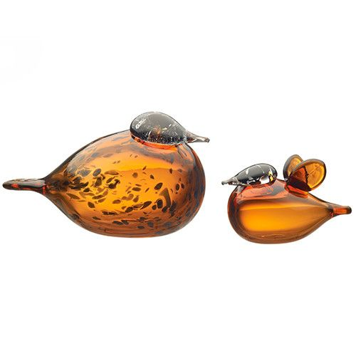 "Designed by Finnish Glass Maestro Oiva Toikka, the Toikka Birds have been roosting since 1972. Produced using a variety of Art Glass techniques, the Birds are each handmade and are unique. 8.25"" x 5"""