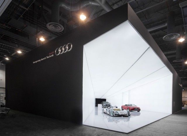 "automotive. ""Cone of Light"" – AUDI AG's visionary exhibition stand concept at the Consumer Electronics Show 2013 (CES) Las Vegas, January 2013 – Fubiz™"