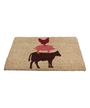 Look at this #zulilyfind! Stacked Farm Animals Door Mat by tag #zulilyfinds