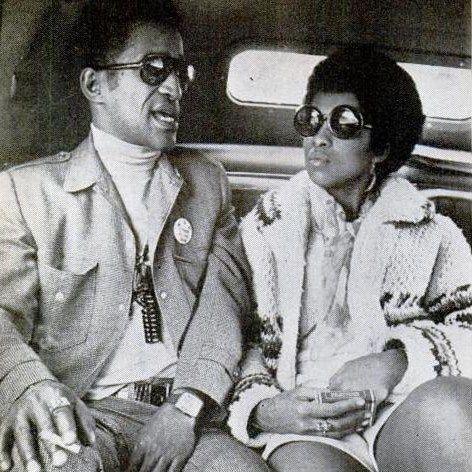 "Sammy Davis, Jr. and Lola Falana, circa 1968. One of the ""Rat Pack"", Davis was a singer/dancer..."