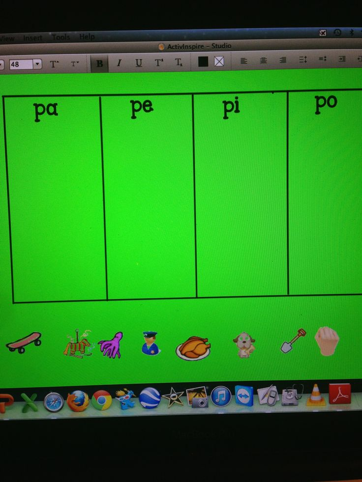 syllables pa,pe,pi,po,pu students classify each object by the initial syllable. by Sandra I Ruiz