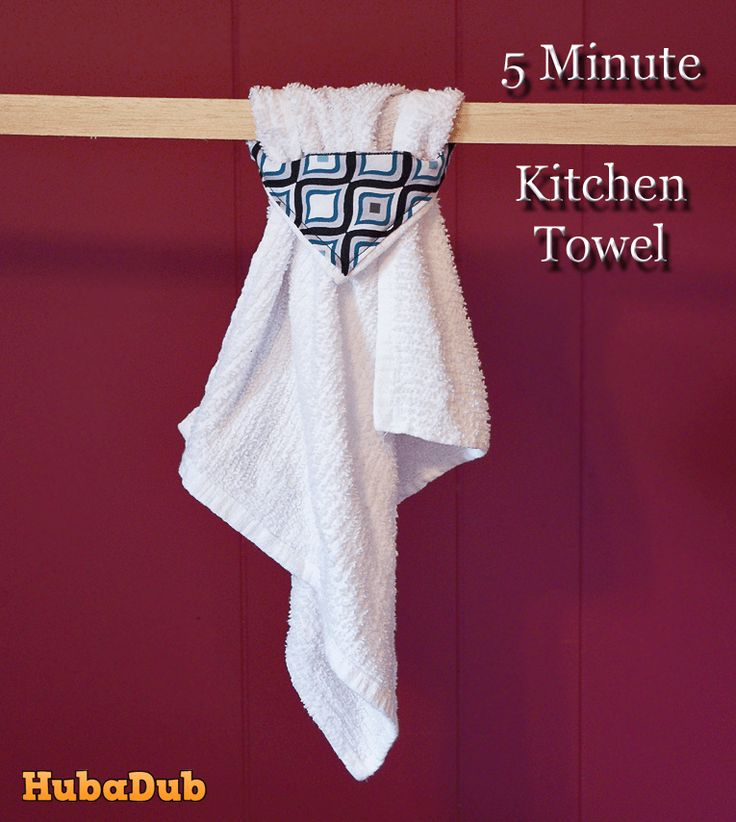 Sew a chic and cheap kitchen towel in 5 minutes