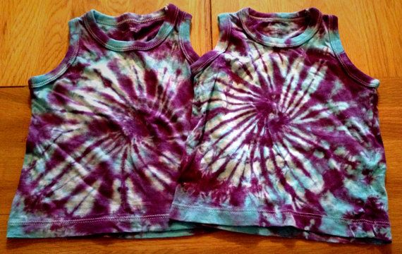 Tie Dye Vests (age 1-2 years) Unisex, Spiral design. on Etsy, £5.00