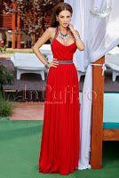 Rochie lunga voal rosu