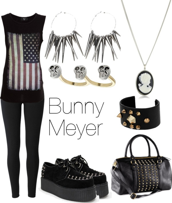 """Bunny Meyer"" by marsiamaez ❤ liked on Polyvore  All but shoes and bag please (:"