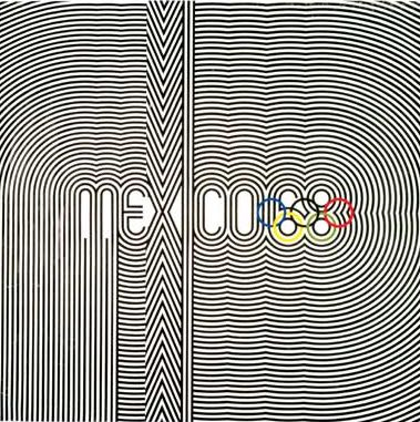 Lance Wyman, logo poster for the 19th Olympiad.