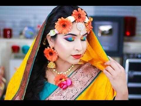 Bengali Gaye Holud Haldi Night Asian Bridal Makeup Tutorial http://makeup-project.ru/2018/01/27/bengali-gaye-holud-haldi-night-asian-bridal-makeup-tutorial/
