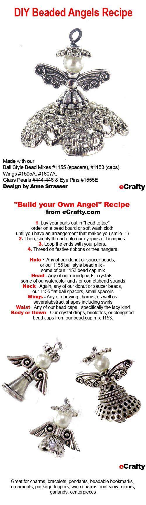 Make Ahead Gifts: DIY Beaded Angels Recipe from eCrafty.com | DIY Jewelry & Crafts from eCrafty.com