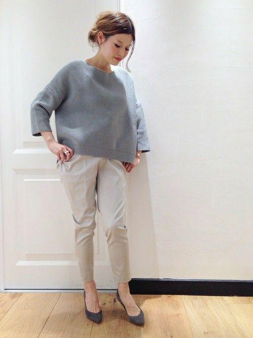 Deuxieme Classe 二子玉川店|HIROさんのニット/セーター「◆ガーター編みボートプルオーバー」(Deuxieme Classe|ドゥーズィエムクラス)を使ったコーディネートです。