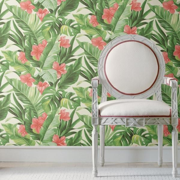 Tropical Paradise Peel And Stick Wallpaper Peel And Stick Wallpaper Wallpaper Roll Tropical Paradise