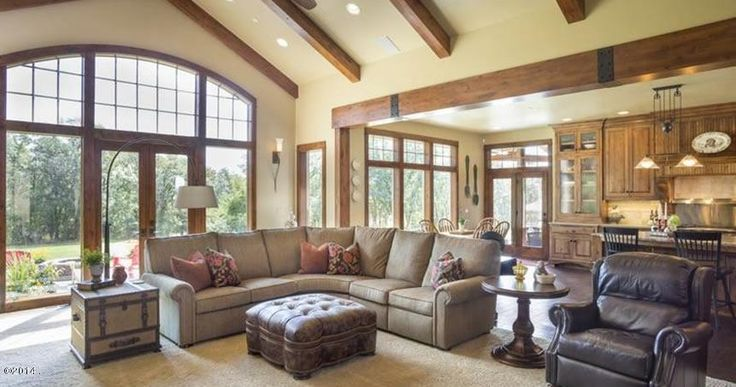 Grand Fireplace W Vaulted Ceilings Beams Open Floor: 24 Best Images About Windows For Vaulted Room On Pinterest