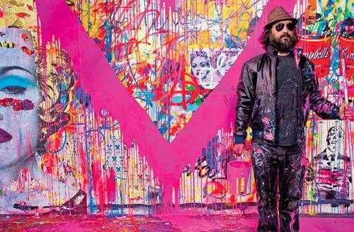 Banksyの映画でもお馴染みグラフィティアート界のスターマイナーとかメジャーとかの分類を突破したアーティストMr.Brainwashの個展がお台場のGALLERY21で開催中