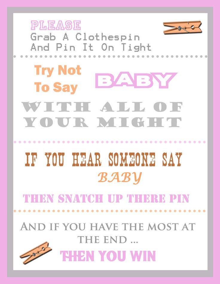 baby shower clothespin game baby shower ideas pinterest shower