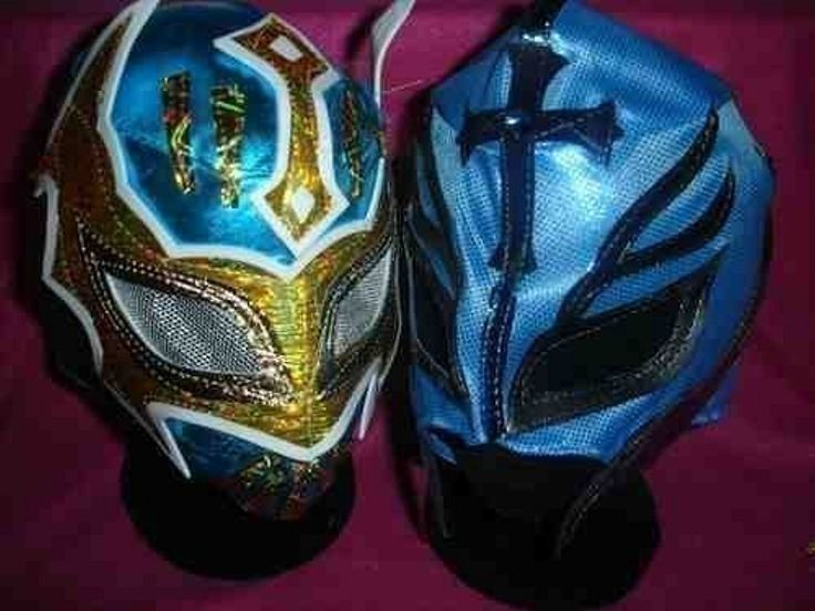 SIN CARA BLUE & colour will vary REY MYSTERIO MASK WWE WRESTLING FANCY DRESS UP COSTUME OUTFIT SUIT ZIP UP CHILD KIDS BRAND NEW MEXICAN RAY LUCHADORE by SOPHZZZZ TOY SHOP -- Awesome products selected by Anna Churchill