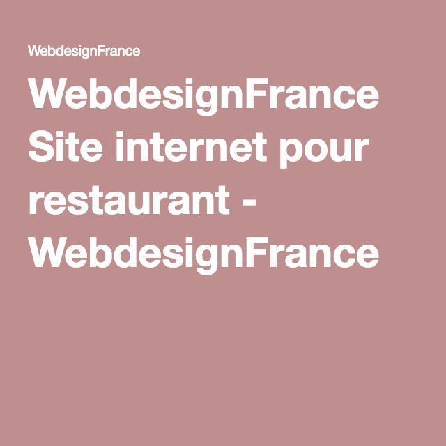 WebdesignFrance Site internet pour restaurant - WebdesignFrance