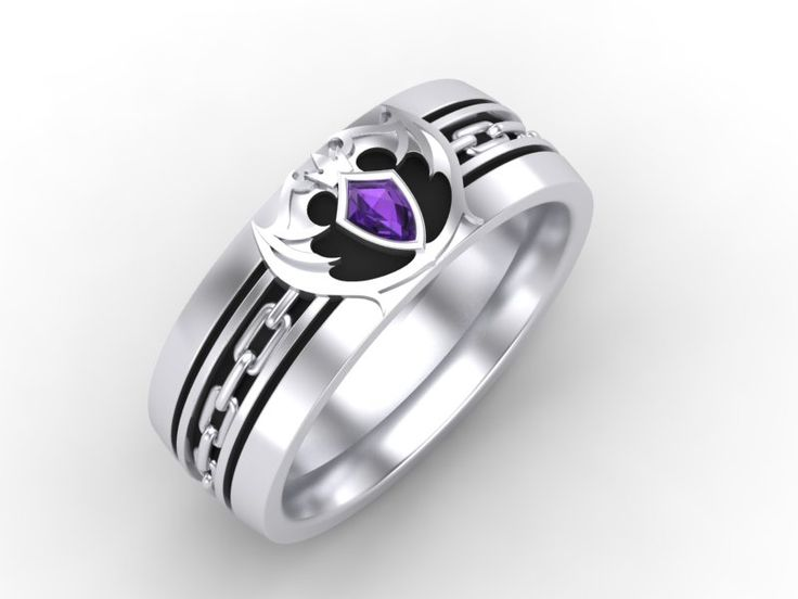 nerdy rings for men wedding anime bands ring