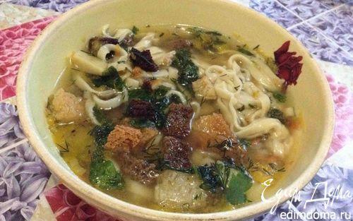 Грибной суп    Кулинарные рецепты от «Едим дома!»