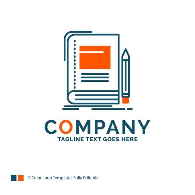 كتاب الأعمال التعليم مفكرة مدرسة تصميم الشعار الأزرق Logo Templates Templates Text