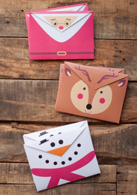 Free printable envelopes that are about as festive as it gets.