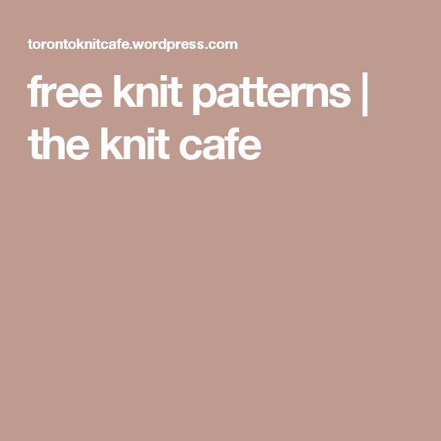 free knit patterns | the knit cafe