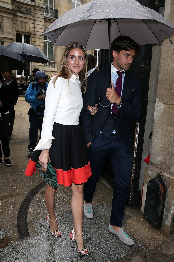 Arriving at the Valentino show in Paris.   - ELLE.com
