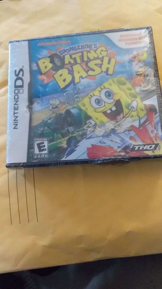 Nintendo Ds Dsi Game Spongebob Boating Bash Complete Case And Manual