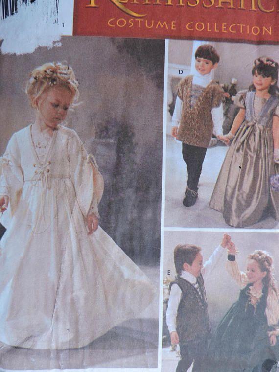 Renaissance Dress Jacket Tunic Shoes Unisex Child's