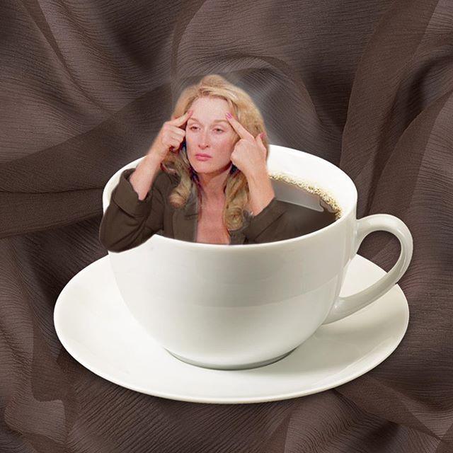 it's too early ☕️☕️☕️ #monday #meryl #merylstreep #coffee #espresso #morning…