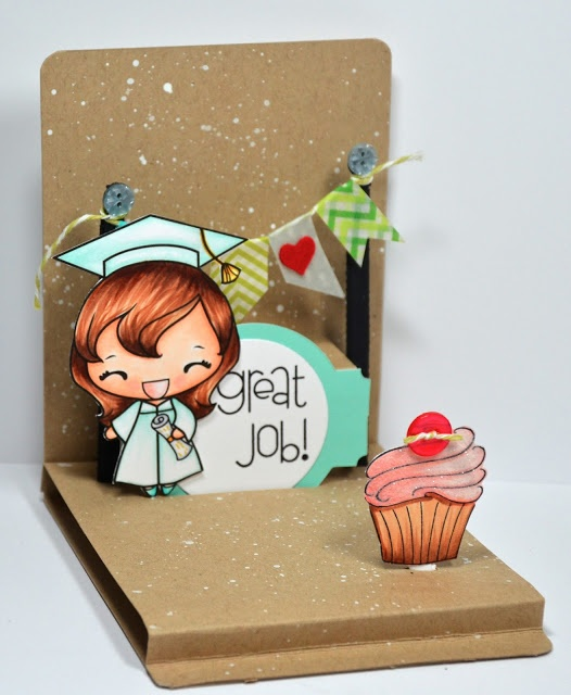 Lovin The Life I Color Follow Me To The Sizzix Blog Today Pop Up Cards Grad Cards Paper Crafts Cards