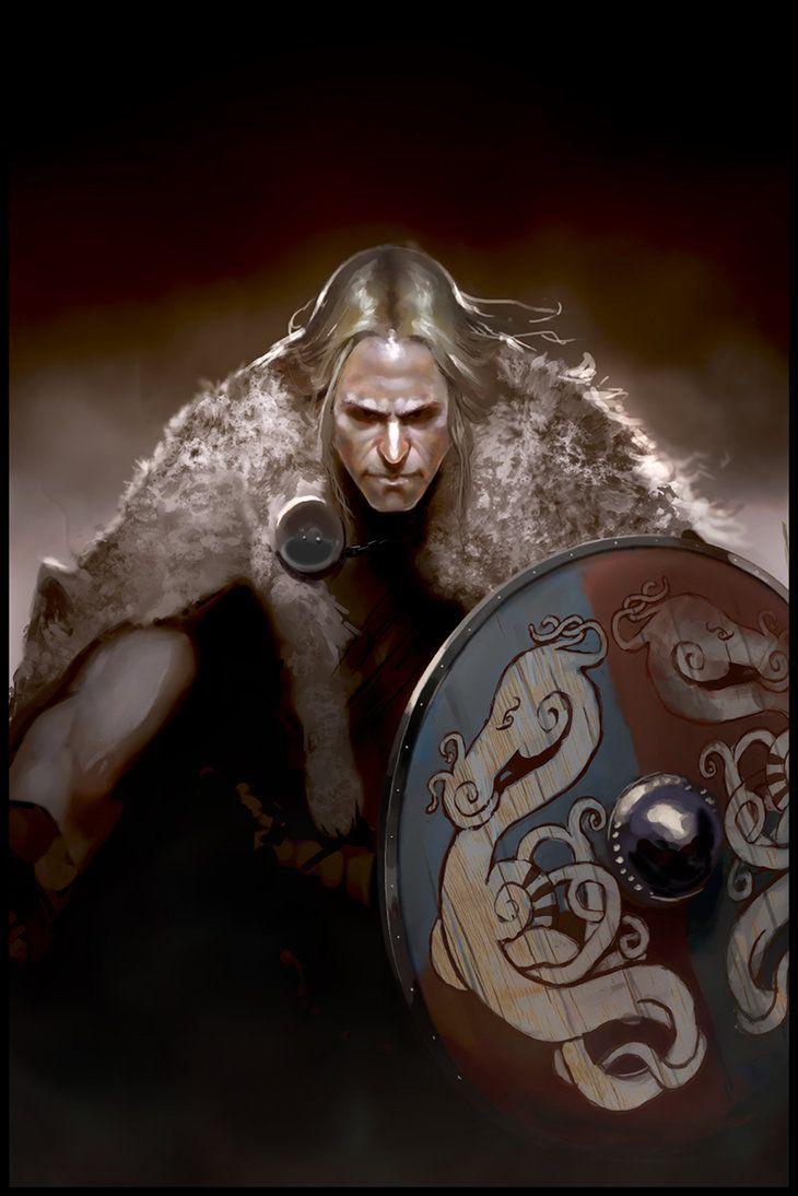 Viking Berserker by Redan23   Digital Art / Drawings & Paintings / Fantasy   Character concept warrior norseman shield