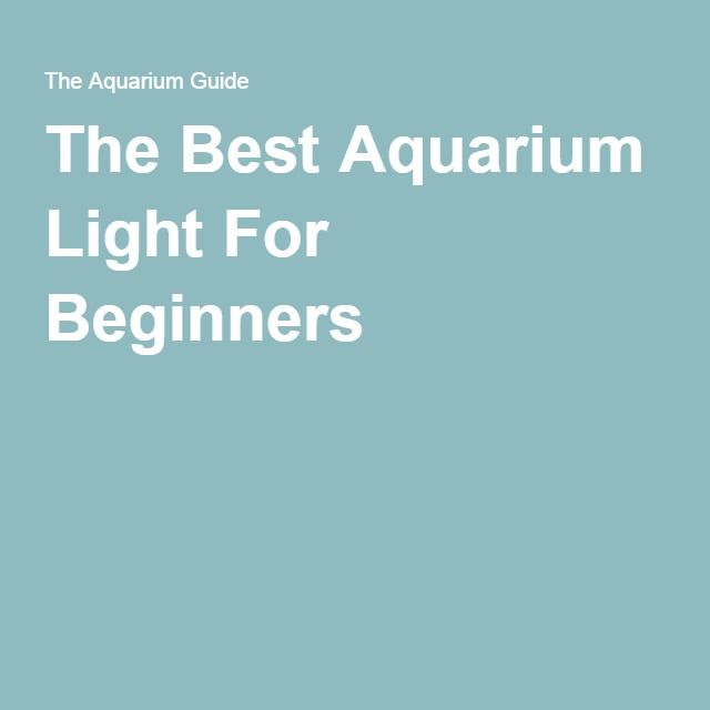 Are you just getting your first aquarium? Check out this guide on the Best Aquarium Light For Beginners!