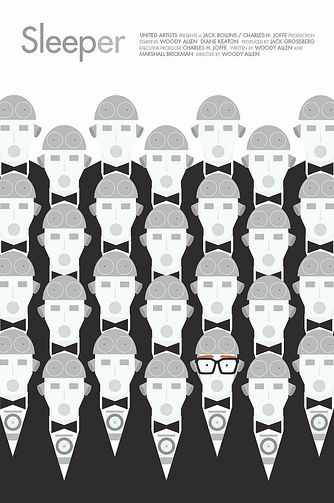 Sleeper Woody Allen alternate movie poster by Brandon Shaeffer