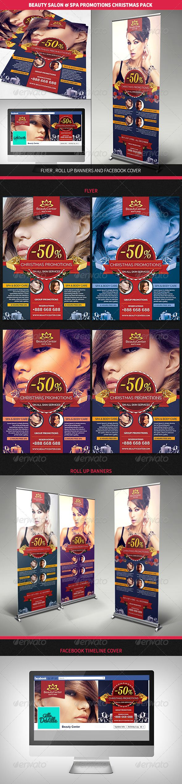 best images about christmas flyers christmas beauty center spa christmas promotions pack