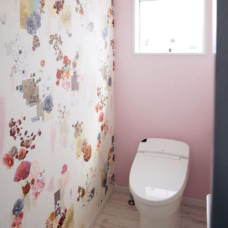 Dフロア/花柄/ピンクの壁/LIXIL/バス/トイレのインテリア実例 - 2016-08-15 21:44:36   RoomClip(ルームクリップ)