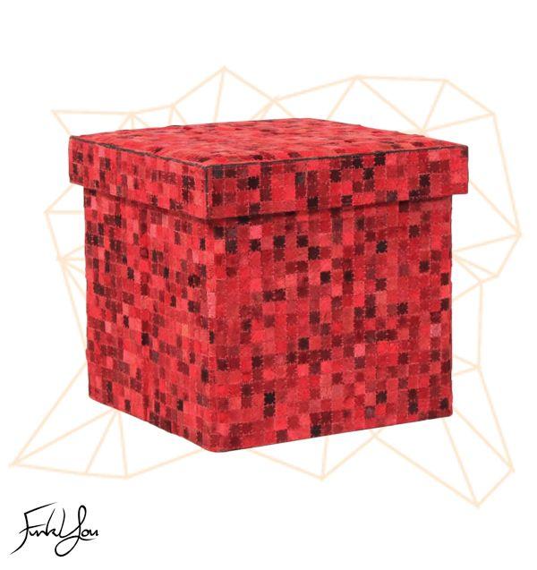 Cubo Ottoman - Red www.funkyou.com.au