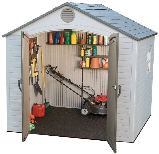 Small Outdoor Storage Sheds with Modern Styling. Lifetime 8 x 5 ft Shed. Read an in-depth review: